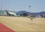 김천시, 드론을 활용한 축구장 잔디 항공방제
